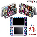 MONSTER GIRLS Vinyl Skin Sticker For Nintendo 3DS XL Console Vinyl Skin Cover In A Retail Pack. Ready For Fast 1st Class UK Post.