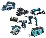 Makita 18V LXT Li Ion LXT600 6 Piece Kit And BKP180 BKP180Z BKP180Rfe Planer