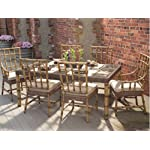 WhiteCraft South Terrace Wicker 7-Piece Dining Package
