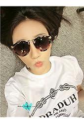 Brand Designer Vintage Trend Sunglasses For Women Men Round Retro Sun Glasses Sports Bike Oculos De Sol type FLOWER