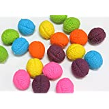 Brain Shaped Erasers Lot of 20