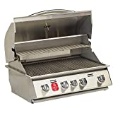 4-Burner Built-In Natural Gas Grill in Stainless Steel with Infrared Burner