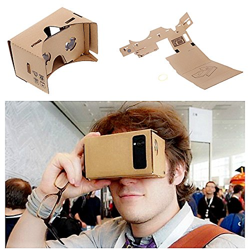 """DIY Google Cardboard Virtual Reality 3D Viewing Glasses by SPEED BUSINESS for 6.0"""" Screen Google VR 3D Glasses"""