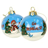 Blown Glass Hand Painted Sports Christmas Ornaments - Cincinnati Bengals at Amazon.com