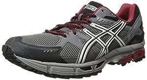 ASICS Men's Gel-Kahana 7 (4E) Running Shoe,Titanium/Lightning/Red,10.5 4E US