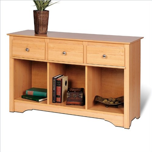 Prepac Sonoma Maple Living Room Console