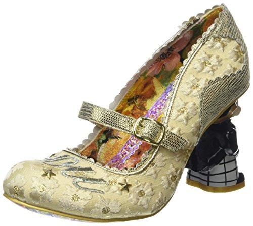 Irregular ChoiceI Love You - Scarpe con Tacco donna, Multicolore (Bianco/Oro), 39.5