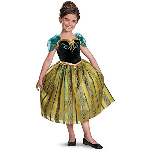 Frozen: Anna Coronation Gown Deluxe Toddler Costume - 3T-4T