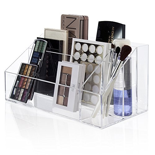 Makeup Palette Organizer Acrylic Cosmetic Case Women Brush Holder Storage Box   eBay