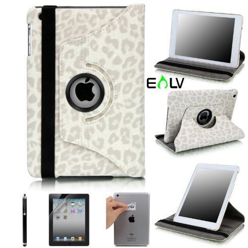 Purchase E LV 360 Degrees Rotating Stand Luxury Leopard/Zebra Design PU Leather Case for Apple New i...