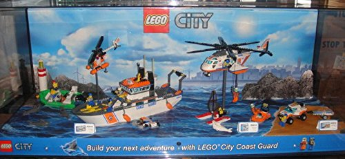 Lego city coast guard store display case includes set for Case lego city