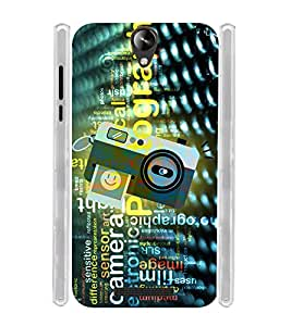 Vintage Digital Click Selfie Camera Soft Silicon Rubberized Back Case Cover for Micromax Canvas 6 Pro