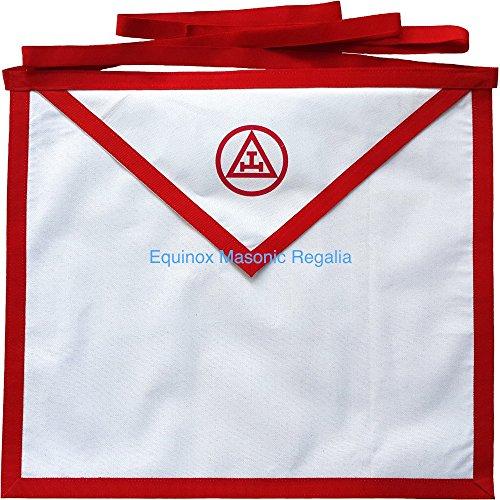 Equinox MR York Rite RAM Royal Arch Mason White Duck Cotton thin Cloth Apron 16x16 (York Rite Apron compare prices)