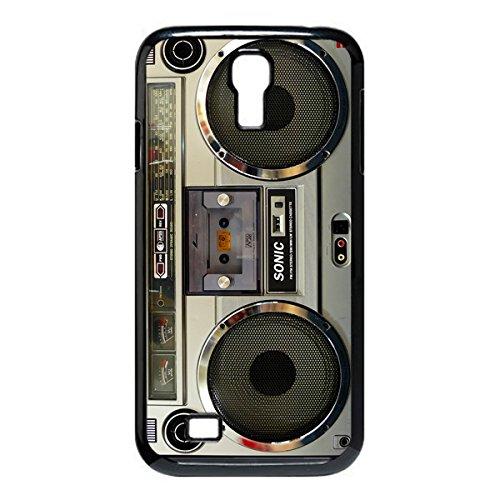 Nostalgic Boombox Vintage Hd Phone Case For Samsung S4 I9500 Case (Black)