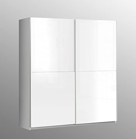 Treat Your Home Clarra 2 Door Sliding Wardrobe, Wood, White Gloss