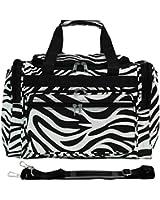 World Traveler Zebra Print Collection 16 Inch Travel Duffle Bag