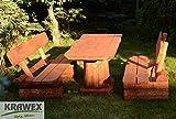 Sitzgruppe-Sitzgarnitur-Biergarten-Gartenmbel-Gartenbank-aus-Holz-Massiv