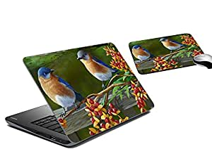 meSleep Birds Laptop Skin And Mouse Pad
