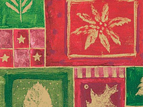 CHRISTMAS MOSAIC 18x833Gift Wrap Full Ream Roll (1 unit 1 pack per unit.)