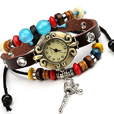 Punk watch?quartz watches, fashion, casual, ethnic style, leather, W0301