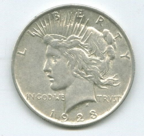 1923-P - PEACE DOLLAR - CHOICE UNCIRCULATED - SILVER DOLLAR