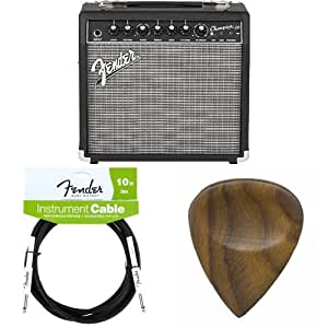fender champion 20 20 watt electric guitar amplifier with cable and picks musical. Black Bedroom Furniture Sets. Home Design Ideas