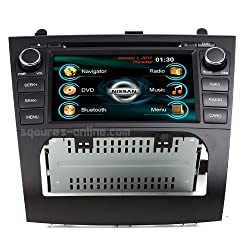 See 2007-2012 Nissan Altima In-dash GPS Navigation Radio AV Receiver SD USB MP3 AVI CD DVD Player iPod/iPhone-ready Bluetooth Hands-free Touch Screen Steering Wheel Controls Multimedia Stereo Audio Video Deck w/ Digital TV Rear View Camera Option SQUARE-S SS- Details
