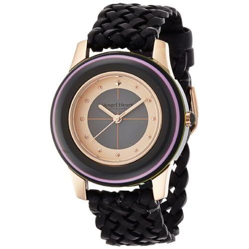 [エンジェルハート]Angel Heart 腕時計 ブラックレーベル ブラック文字盤 アセテート/ステンレスケースケース カーフレザーベルト BK34PG-BK レディース