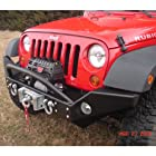 Rock Hard 4x4 RH5005 Full Width Winch Front Bumper For 2007-10 Jeep Wrangler JK And Unlimited