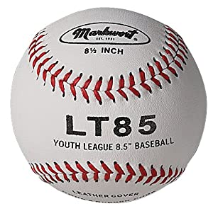 Markwort 8 1 2-Inch Junior Size Youth League Leather Cover Baseball (Dozen) by Markwort