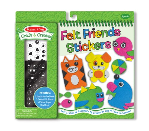 Melissa & Doug Craft and Create Felt Friends Kit