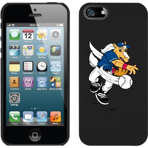 Best Price Texas Rangers - Mascot design on a Black iPhone 5 Thinshield Snap-On Case by Coveroo