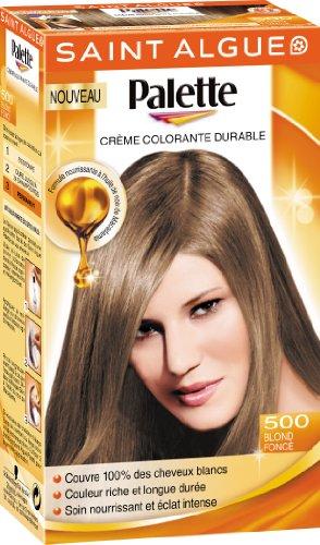 2 saint algue palette coloration permanente blond fonc 500 - Coloration Blond Fonc