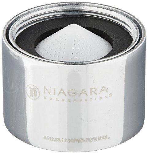Niagara 0.5 GPM N3205N-PC Dual Threaded Aerator (Water Saver Shower Aerator compare prices)