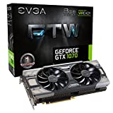EVGA GeForce GTX 1070 FTW GAMING ACX 3.0, w/ Adjustable RGB LED Graphics Card 08G-P4-6276-KR