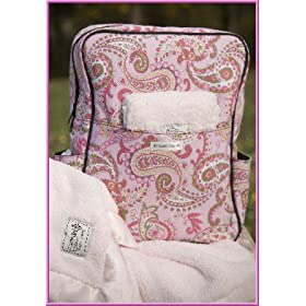 Pink Paisley Diaper Bag Gift Set