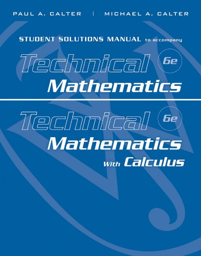 Student Solutions Manual to accompany Technical...