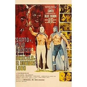 (11x17) Santo y Blue Demon vs Dracula y el Hombre Lobo Movie Poster