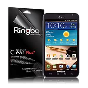 [Ultimate Clear Plus] Samsung Galaxy Note Rearth Ringbo Screen Protector for [ONLY Sprint, At&t T-Mobile] Cover Film (2 PACK)