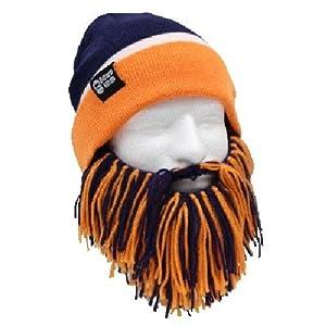 NFL Denver Broncos Beanie with Barbarian Beard, Orange Blue by Beard Head
