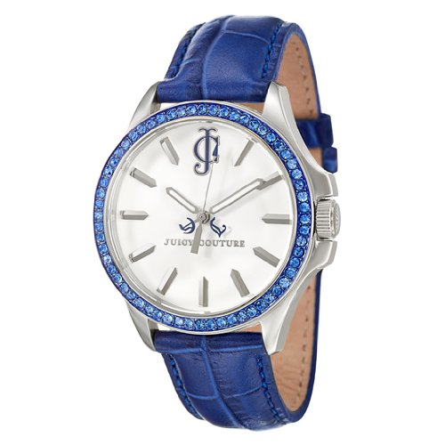 Juicy Couture Women's 1900969 Jetsetter Blue Leather Strap Watch