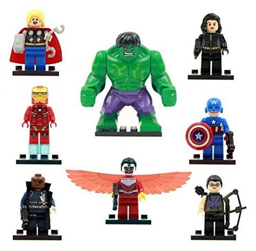 The Avengers Marvel DC Super Heroes Series Building Blocks Sets Minifigure Bricks Toys Compatible With Lego 8Pcs/Set SY161 (No box, no card) by China