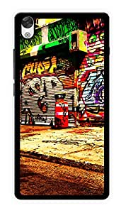 """Humor Gang Graffiti Old Shops Printed Designer Mobile Back Cover For """"OnePlus X"""" (2D, Glossy, Premium Quality Snap On Case)"""