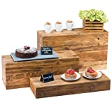 Cal-Mil 166-3-99 Madera Reclaimed Wood Rectangle Plate Riser - 20 1/2