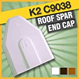 1 x White K2 C9038 Glazing Bar End Cap - Genuine manufacturers glazing bar or roof spar end cap for K2 roof conservatories.