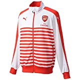 Puma Men's Arsenal Football Club T7 Anthem Jacket with Sponsor - 746936 Red High Risk Red-White Size:XXL