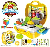#5: Toys Bhoomi Ultimate Kid Chef's Bring Along Kitchen Cooking Suitcase Set - 26 Pieces