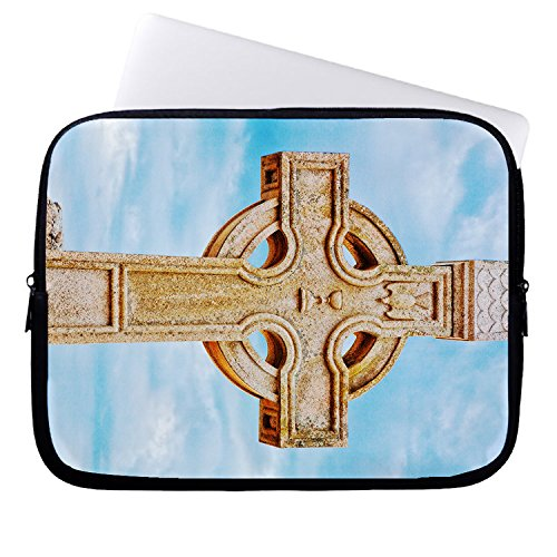 hugpillows-laptop-sleeve-bag-donegal-cemetery-celtic-cross-notebook-sleeve-cases-with-zipper-for-mac