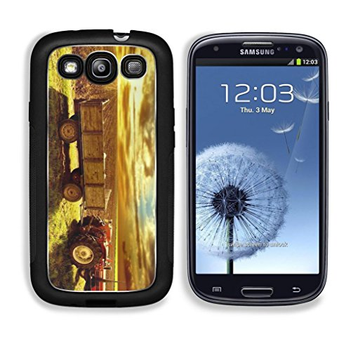 Landscape Country Tractor Cornfield Sky Sunset Punktail'S Collections Galaxy S3 Cover Premium Aluminium Design Tpu Case Open Ports Customized Made To Order