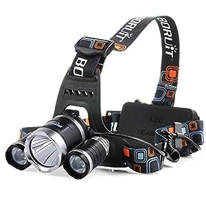 VicTsing 5000 Lumen LED linterna eléctrica de bicicleta / faro / frontal / lámpara de cabeza / 3 X CREE XM-L XML T6 luz de bicicleta + Cable USB de carga